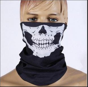 Skull Bandana Bike Motorcycle Helmet Neck Face Mask Halloween Paintball Ski Sport Headband
