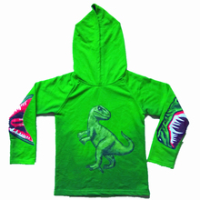 Retail Hot Hooded Sweater Boy Cartoon Binosaur Cotton Coat Jacket Kids Clothes Free Shipping