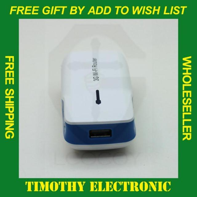 HOT SALE Free shipping Mini 3 in 1 3G Wireless WiFi USB Broadband Hotspot Router & 5200mAh Mobile Power Bank Battery 1 PC #SJ023