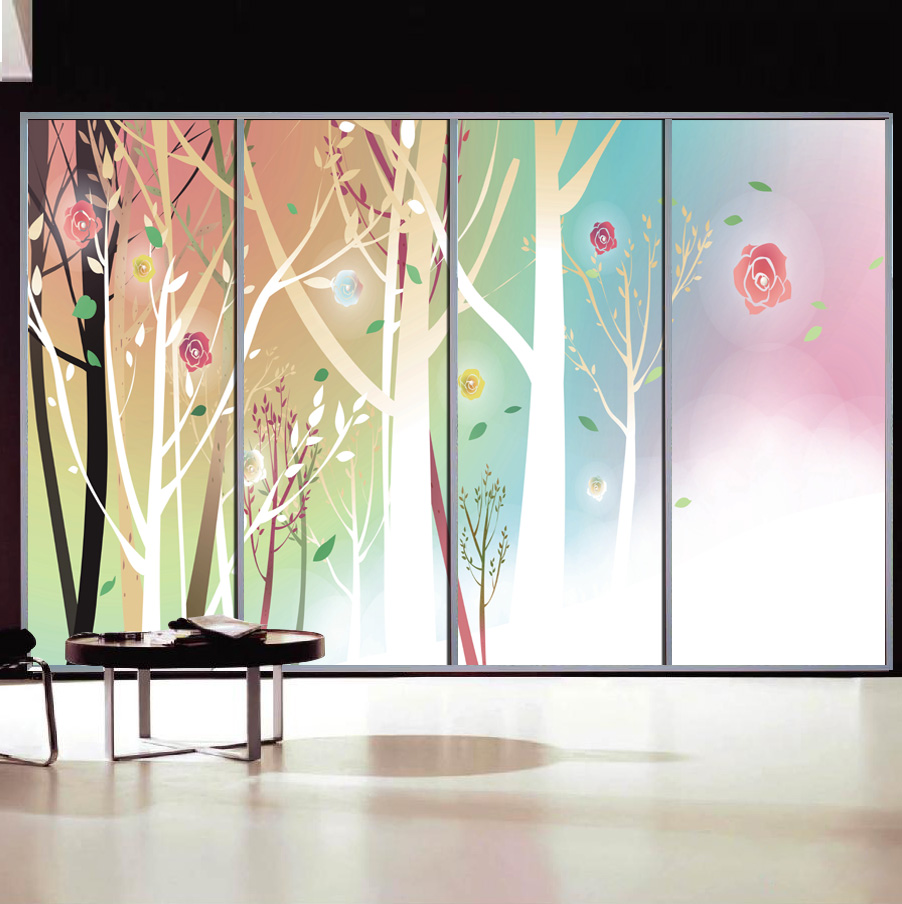 Wide 90cm Long 200cm Frosted Opaque Glass Window