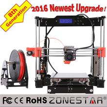 Eighth Generation Reprap Prusa i3 3D Printer DIY kit Free Shipping