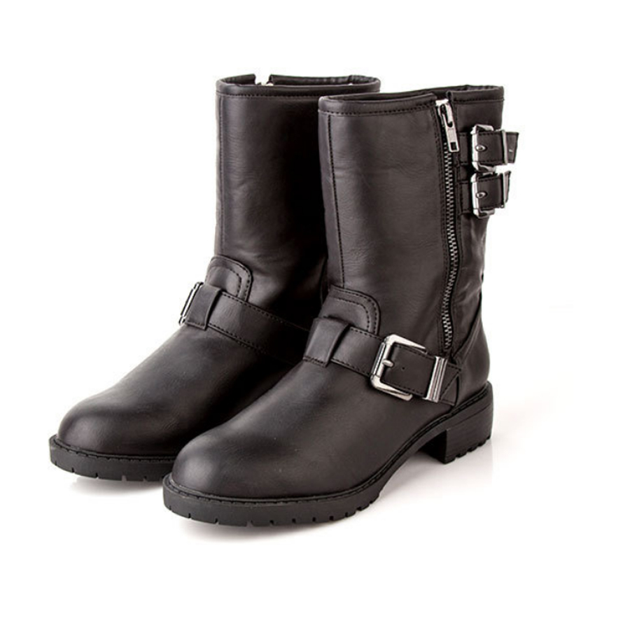 Fashion black buckle increase winter martin boots women shoes woman Pu leather boot(China (Mainland))
