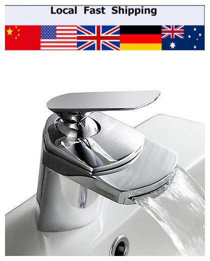 Modern Contemprary Single Handle Water Bath Tap Basin Mixer Tap Waterfall Bathroom Vanity Faucet(China (Mainland))