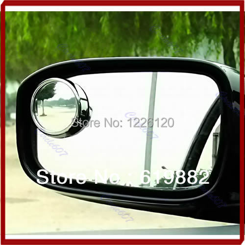 W110 New Driver 2 Side Wide Angle Round Convex Car Vehicle Mirror Blind Spot Auto RearView 1Pair Drop Shipping(China (Mainland))