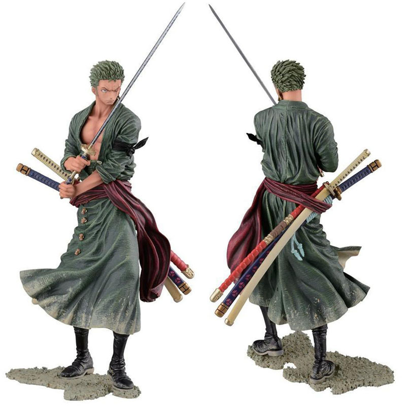 Anime Figurine Action Figure One Piece Roronoa Zoro PVC Doll Model Toy 20cm(China (Mainland))