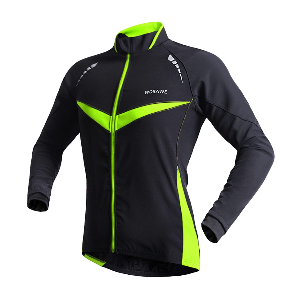 2015 New Professional Thermal Cycling Jacket Winter Running Sport Jacket Men Women High Quality WOSAWE 2 Colors BC266 (2)