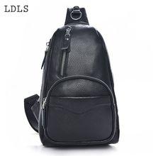 LDLS Высококачественная кожаная мужская сумка Сумка через плечо с передним карманом. Повседневная сумка на одном ремне на плечо
