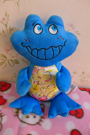 2014 new hot sale Single hippo1 frog plush toy doll 23cm car decoration(China (Mainland))
