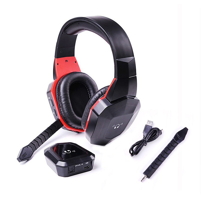 Brands 2.4G Wireless Digital fiber Stereo Gaming headphones for PS4,PS3,Xbox 360 ONE,Wii,PC/MAC,TV Games Headset Removeable Mic <br><br>Aliexpress