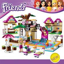 Building Blocks Set Friends 442 Pcs Figures DIY Swimming Pool Brinquedos Bricks Toys for Girls Bela 10160