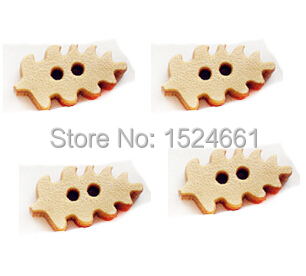 Wholesale wooden buttons wooden buttons cartoon Christmas tree(China (Mainland))