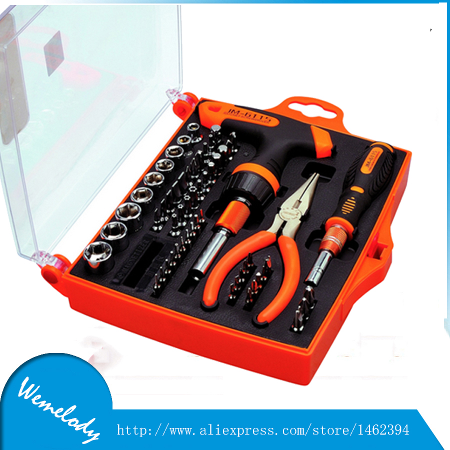 Precision T-shaped ratchet screwdriver set with torx bits JM-6115 mobile phone repair tool & home repairing & computer hardware(China (Mainland))