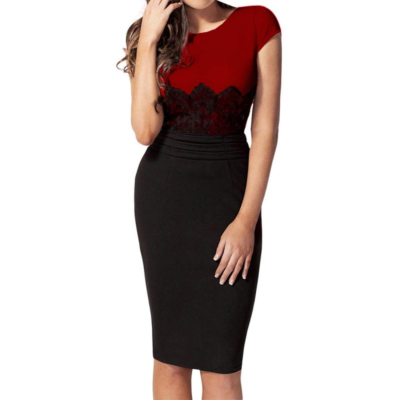 2016 New Fashion Womens Empire Vintage Crochet Lace Square neck Bodycon Fitted Shift Party Pencil Dress - Women's Beauty Store store