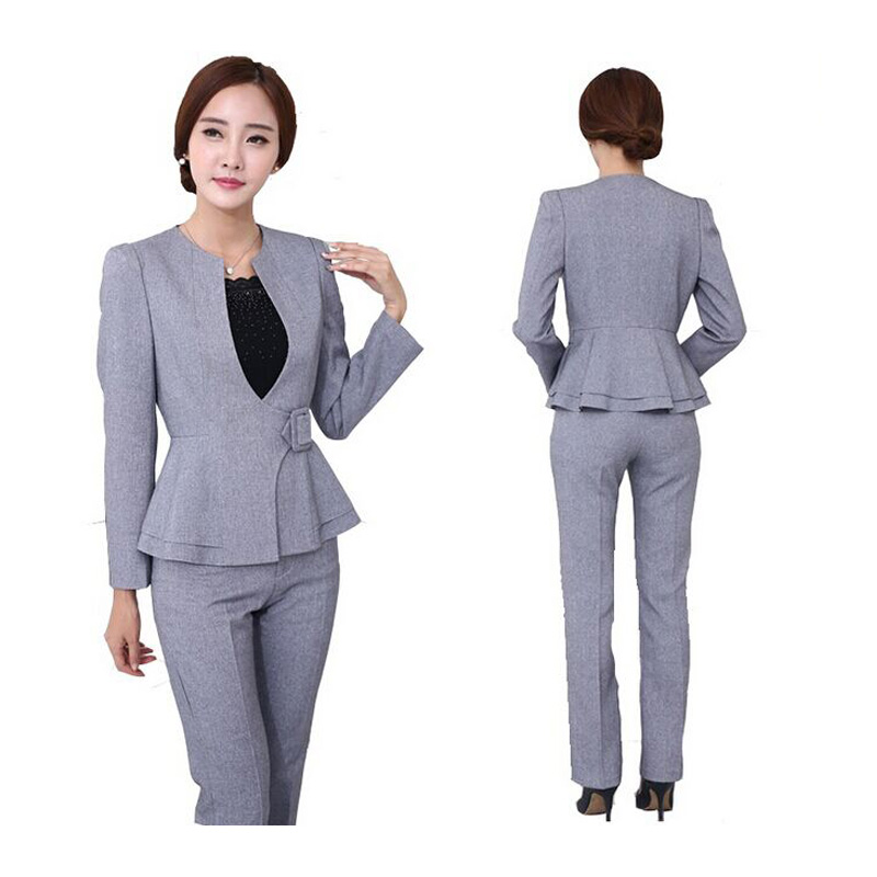 Innovative  Grey Doublebreast Grey Pants Women39S Grey Pants Suits Grey Double