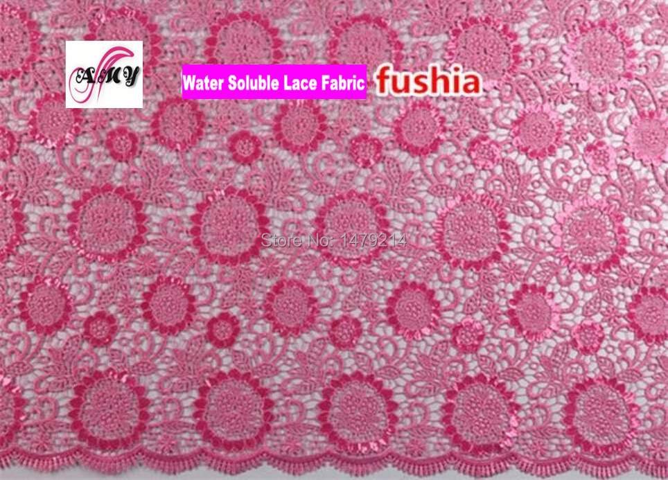 Free shipping Italian Style chemical lace cupion lace fabric for women Summer Party dress PGC10114-6(China (Mainland))