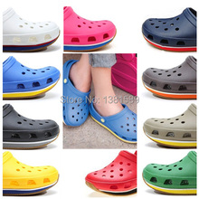 Free delivery  sandals clogs sandals for men and women retro beach hole jam slippers, beach slippers, wholesale / retail(China (Mainland))
