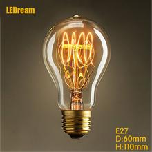 110 v, 220 v 40 w E27 A19 nipple 60 w CE certification Edison light bulb personalization(China (Mainland))