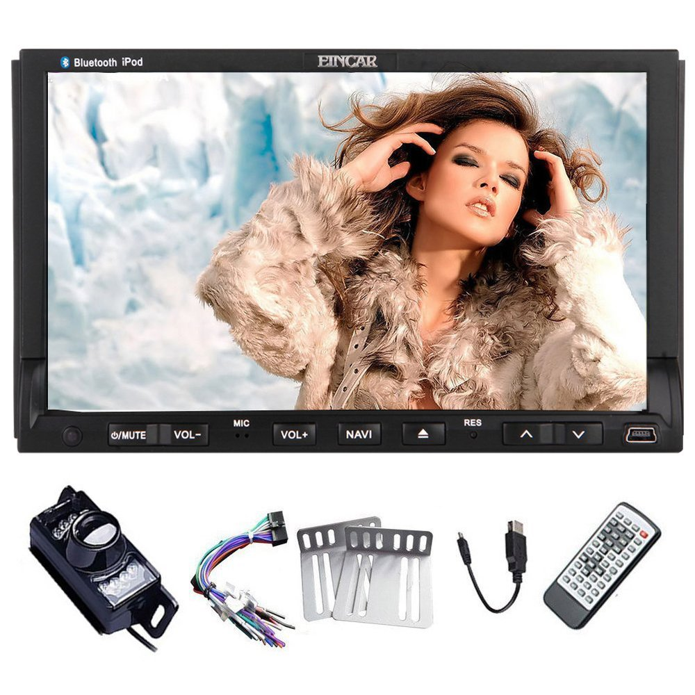 Free Backup Camera Eincar 2015 Car DVD Player Win 8 System Double 2 Din 7 Inch Car Stereo Capacitive Multi-touch Screen Car Vide(China (Mainland))