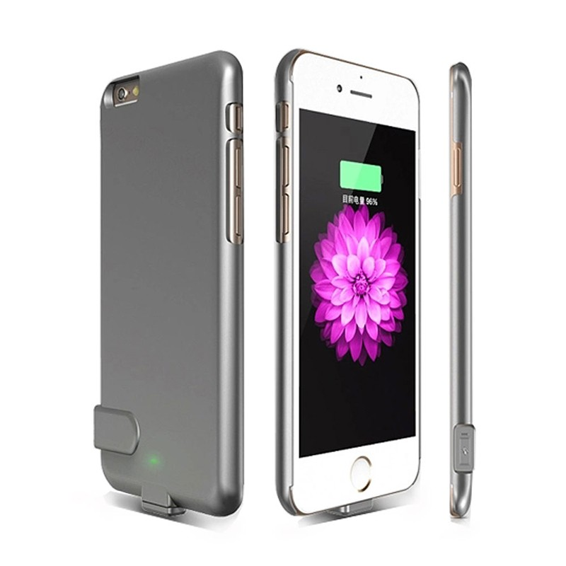 5.5 inch Ultra Thin Phone Case For Iphone 6 Plus 6S Plus 2000mAh External Backup Battery Charger Cover Power Bank Case Phone Bat