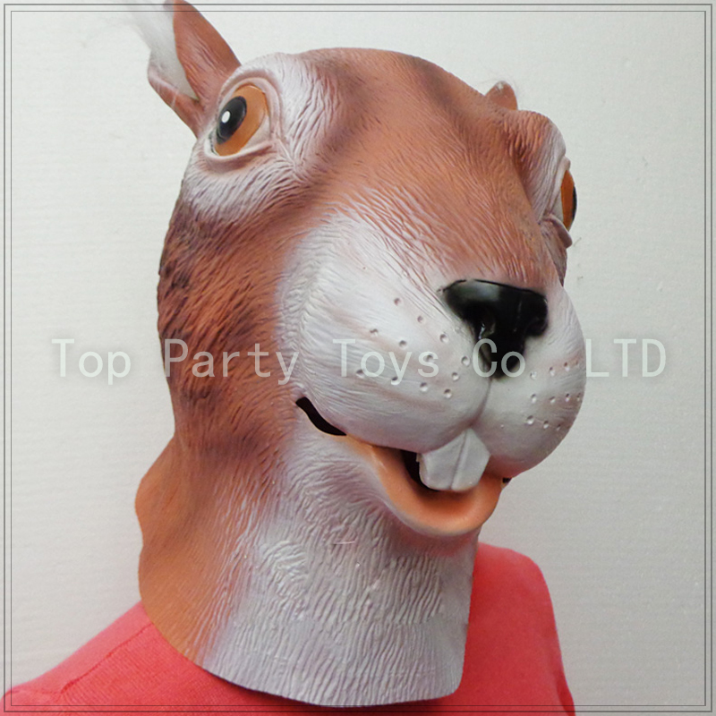 Cute Squirrel Mask Halloween Latex Animal Mask Cosplay Party Props Free Shipping(China (Mainland))