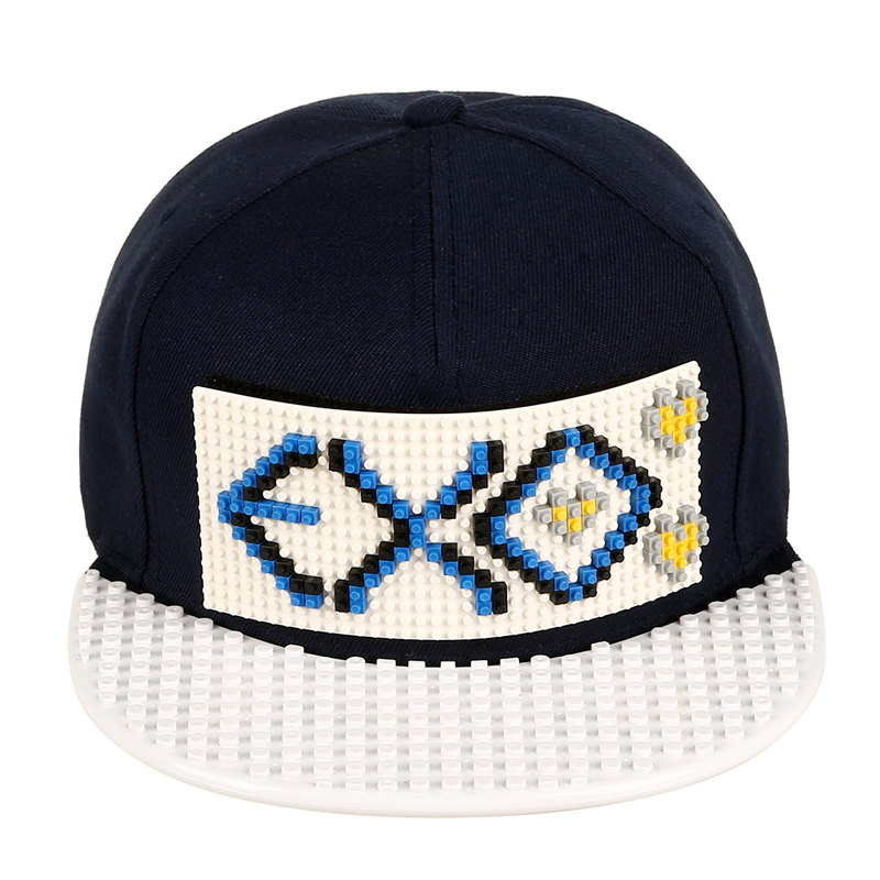 New Design DIY EXO Letter Snapback Hats Legos Blocks Baseball Caps For Women Men Summer Customise Sun Hat Wholesale [HUL202](China (Mainland))