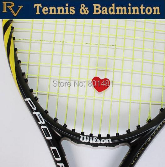 Free shipping- Red Heart Tennis Racket Vibration Dampener, tennis damper(China (Mainland))