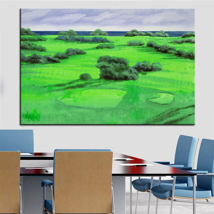 Large size Print Oil Painting Wall painting Campo Da Golf Decor Wall Art Picture For Living Room paintng No Frame(China (Mainland))