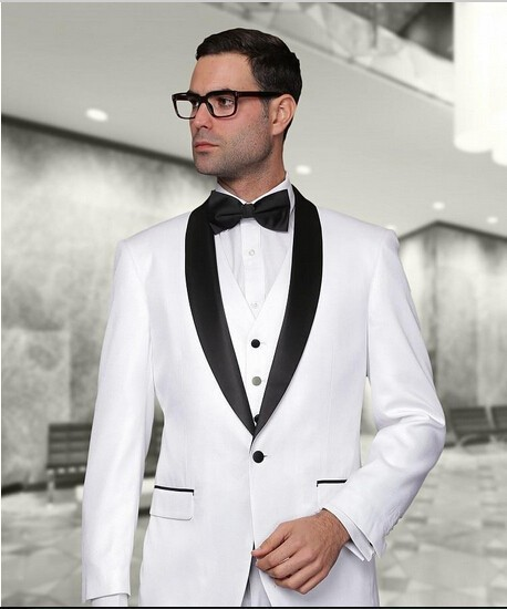 Black And White Slim Fit Suits