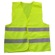 Car Motorcycle Reflective Safety Clothing High Visibility Safety Reflective Hi Viz Vest Warning Coat Reflect Stripes Tops Jacket(China (Mainland))