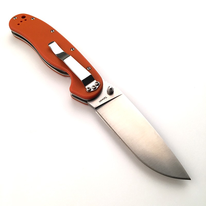 Buy 2 Colors WTT Pocket Folding Knife AUS-8 Blade Tactical Survival Knives Outdoor Camping EDC Tools With Black / Orange G10 Handle cheap