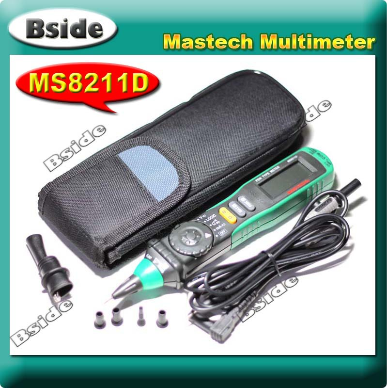 Free shipping MASTECH MS8211D Portable Pen Type Digital Multimeter Professional, AC DC Voltage Current Resistance Measurement<br><br>Aliexpress