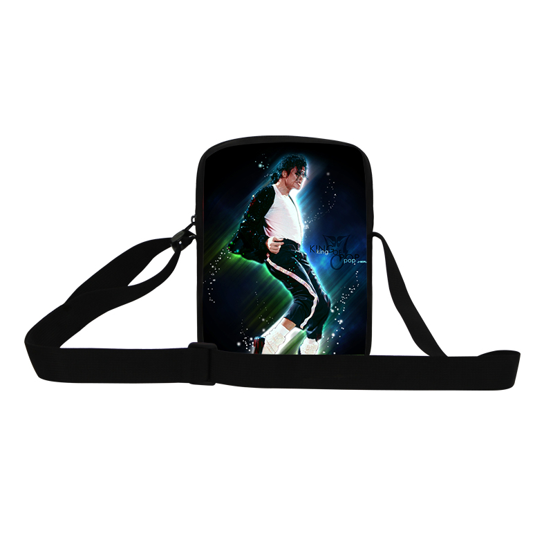 famous dancing king Michael Jackson small messenger bags fashion men mini bags business mens travel crossbody bags free shipping(China (Mainland))