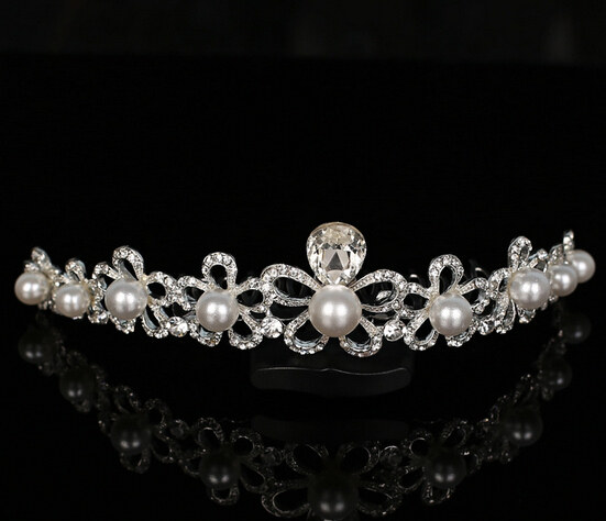 Wholesale price 2015 Wedding crown hair accessory bridal crystal crown Hairbands princess tiara bridal wedding(China (Mainland))