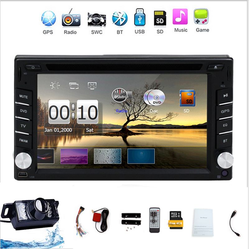 New universal Car Radio Auroradio Double 2 din car dvd player GPS Navigation In dash Car PC Stereo Head Unit video+Free camera(China (Mainland))