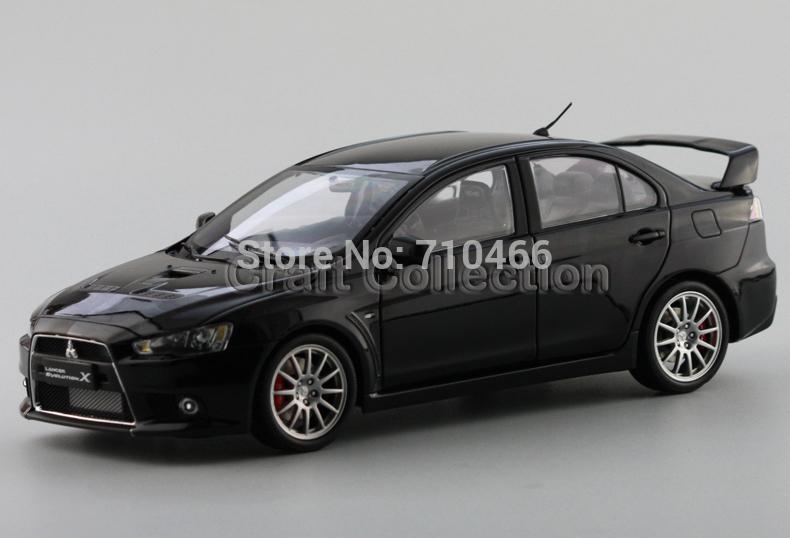 1:18 Scale Black Mitsubishi Lancer EVO X 10 Collectable Brinquedos Diecast Model Car(China (Mainland))