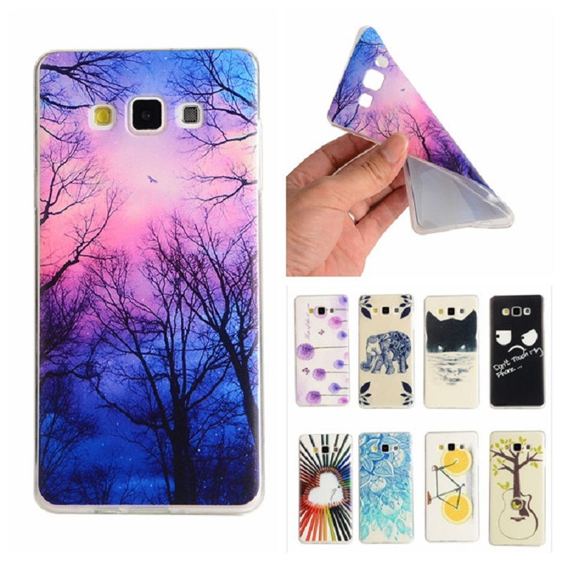 Cute Stylel For Samsung Galaxy A5 Case Tree Flower IMD Gel Soft Silicone Covers For Samsung Galaxy A5 A500 A500F Cellphone Cases(China (Mainland))