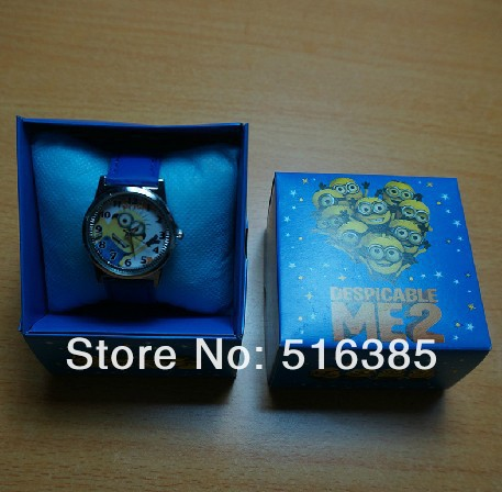 free shipping Despicable Me Cartoon Child Quartz Wrist Watch/Clock with /box for Boys and Girls 10pcs<br><br>Aliexpress