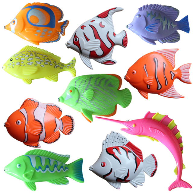 Large inflatable pool baby toy magnetic fishing two-color Medium fish bulk