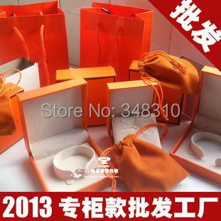 Free shipping orange color bangle box HM bangle box(China (Mainland))