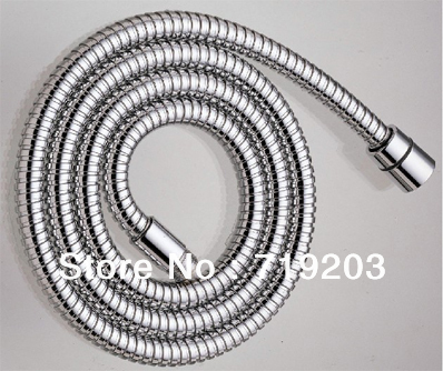 Free shipping 1.5m  Stainless  Steel Pipe  Chrome Hand Shower  Water Hose  EPDM Inner With Copper Nut - Brand New<br><br>Aliexpress