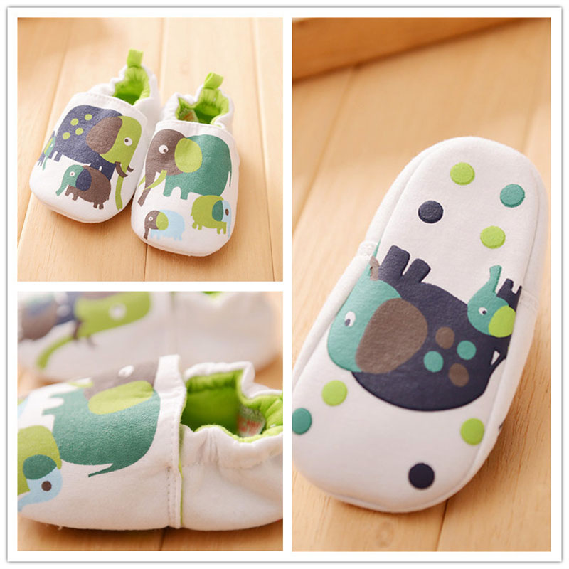 Soft Cartoon Style Baby Boys Girls Toddler Slippers Infant Garden Shoes Baby First Walker Cotton Skid - Proof Shoes LSX011(China (Mainland))