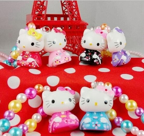 2015 New Fashion Acrylic styling tool cute hello kitty charms for children the jewelry make kids baby girls cute lovely(China (Mainland))