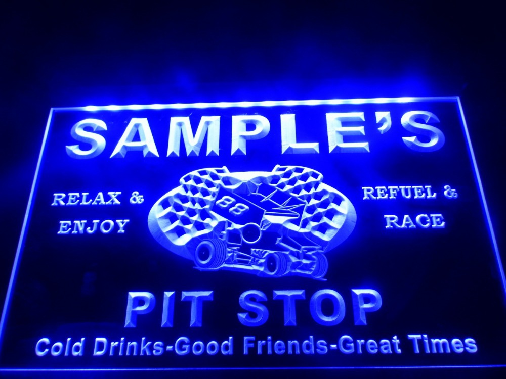 DZ022- Name Personalized Custom Pit Stop Man Cave Bar Neon Beer Sign(China (Mainland))