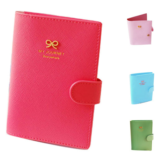 Brand New Women Purse Bowknot Buckles Passport ID Credit Card Holder Protect Cover Case Travel Women Wallets(China (Mainland))