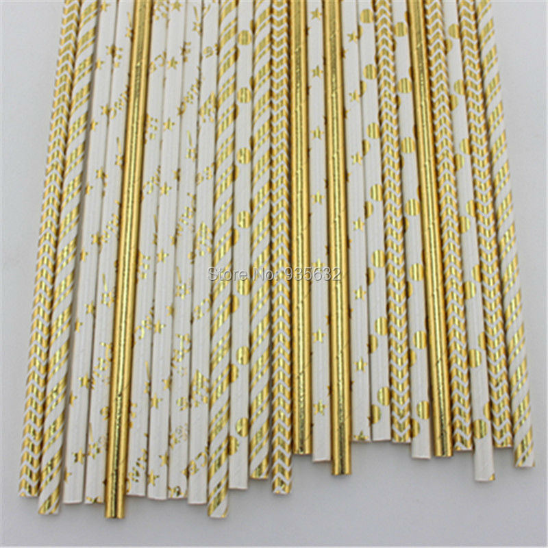 15000pcs/lot Gold and Silver Chevron Stripe Star Heart Paper Straws for Wedding Kid Birthday Event Supplies Drinking Straws(China (Mainland))