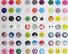 Free Shipping 330pcs/lot Home bottom Sticker Mobile Smartphone Cellphone Stickers for iPhone 5
