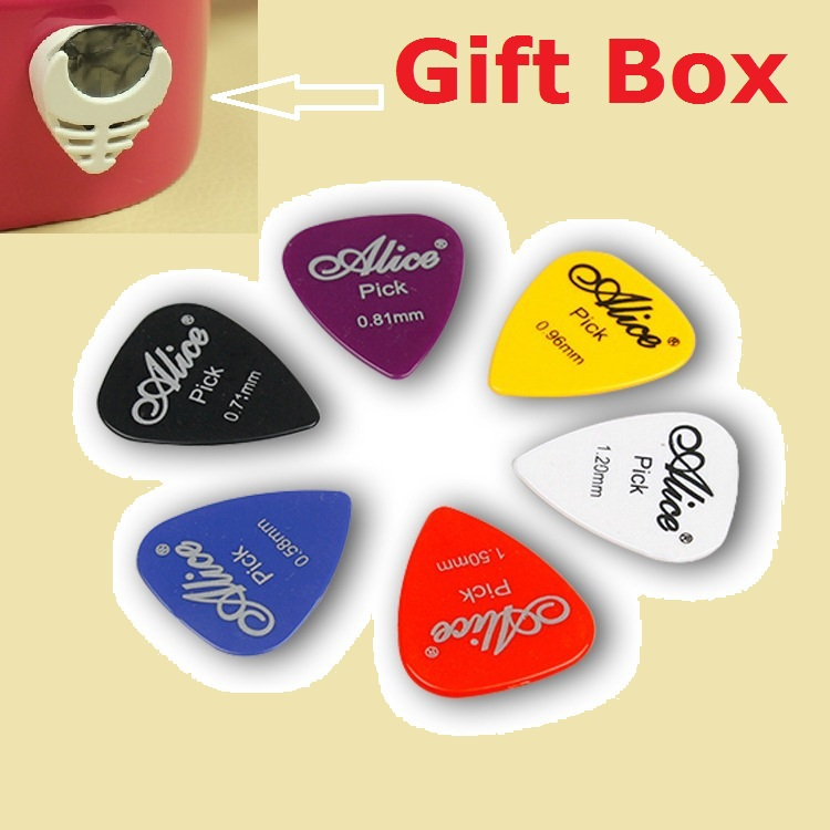 30 pcs Alice pic guitar picks acoustic electric guitar plectrum guitarra, thickness mix 0.58-0.81mm with Gift Box(China (Mainland))