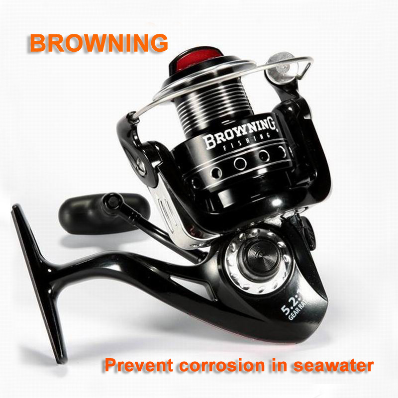 BROWNING saltwater spinning fishing reel trolling reel 12BB+1 stainless steel bearings Gear Ratio 5.2:1 Sea Carp Fishing Tackle(China (Mainland))