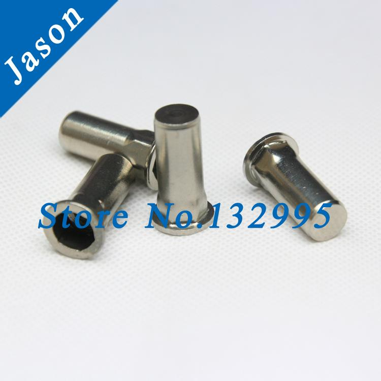 M8  Rivet Nut / Insert nut / Stainless Steel A2 / SUS 304  Flat hex head inner-hex body close end<br><br>Aliexpress
