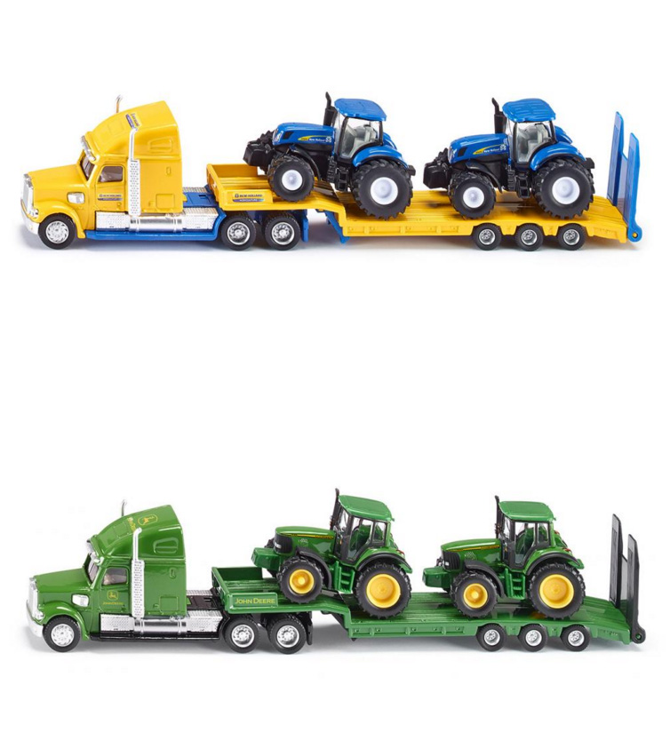 FreeShipping 1:87 Siku Truck With New Holland Tractors Model Toy 1805 LKW mit New Holland Traktoren Kids Toys High Quality(China (Mainland))